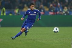 Eden Hazard playing for Chelsea Football Club