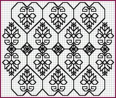 Blackwork Pattern - All-over Arabesque [21K]