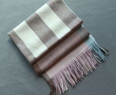 Sheer cashmere scarf in checkFringing at both ends [$67.00]