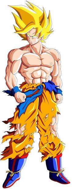 Goku Super Saiyajin 1 by mr. Dragon Ball Gt, Dragon Z, Manga Dbz, Manga Dragon, Goku Y Vegeta, Son Goku, Super Saiyan Goku, Akira, D Mark
