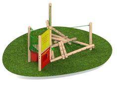 Specialised Sports Products: Clamber Stack Midi climbing frame with deck 2 of 4 Outdoor Play, Climbing, Safety, Deck, Surface, Frame, Sports, Products, Security Guard
