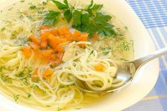 Kuracia polievka (Slovak Chicken Soup with Noodles) - my mom and grandma make the BEST soup.