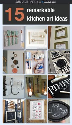 Be inspired by fifteen remarkable DIY kitchen art ideas in this collection that Average But Inspired curated for Hometalk.