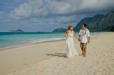 #beachwedding #destinantionwedding #oahu #hawaii #waimanalo #bride #groom #love #2013