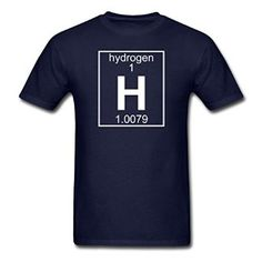 Amazon.com: Men's Element 001 H Hydrogen For Printed T-Shirts navy: Clothing