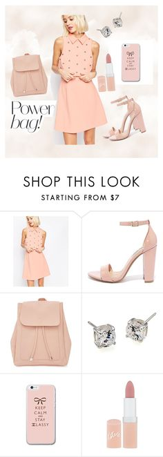 """""""Power bag"""" by mexarchopoulou ❤ liked on Polyvore featuring ASOS, Steve Madden, New Look, Carolee and Rimmel"""