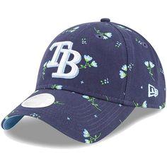 340dbfec432 Women s Tampa Bay Rays New Era Navy Blossom 9TWENTY Adjustable Hat
