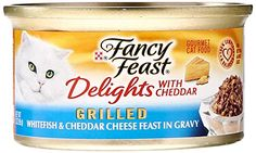 Fancy Feast Canned Delights Cat Food, Whitefish And Cheddar, 3 oz >>> More details can be found by clicking on the image.