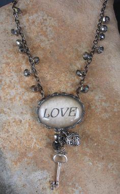 Soldered Love charmed necklace www.nanettemc.etsy.com
