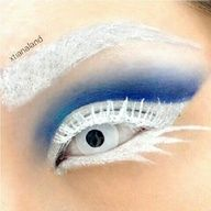 Xtianaland is an amazingly creepy ice queen in Sugarpill Velocity and Tako eyeshadows! She created her own white false lashes by painting Ardell lashes with MUFE white flash color.