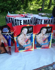 wwe birthday party ideas | Wwe balloons, wwe birthday party, wwe goody bags and wwe decorations.