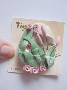 Dove Rose Pin  Brooch by Tigre Lis  Karen Justice