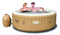 Bestway, Palm Springs AirJet Inflatable Hot Tub by Bestway SaluSpa Palm Springs, Inflatable Hot Tub Reviews, Air Jet Tubs, Tubs For Sale, Home And Garden Store, Malibu Homes, Bathtub Drain, Steam Showers Bathroom, Whirlpool Bathtub