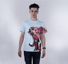 d95568ee Crew Tee, Floral Elephant $34.00 https://modthread.com Elephant, Elephants. Mod  Thread