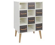 Mueble auxiliar en madera de pino Sophie-Marie - gris