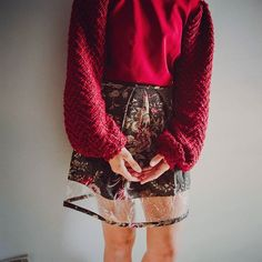 Let's put some color in winter 🎆  #burgundy #love #newcolors  #sheerskirt #floral #skirt #miniskirt #fashion #burgundy #cute #transparent #highwaistskirt