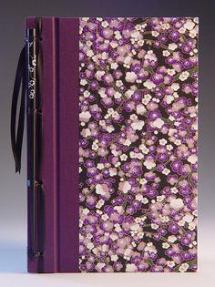 Handmade Journal - Purple Plum Blossom Chopstick Journal