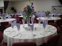 Lavender decor for an 80th Birthday party.