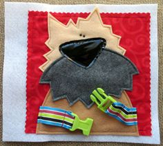 "Designed for little hands, ""Button Nose"" will engage your little one… and delight YOU as well!  You can make ""Button Nose"" today….. the .PDF PATTERN is available for immediate download!  This fun, felt quiet book features a MANIPULATIVE activity on each page.  1. BUTTON the piggy's nose 2. SNAP the bunny's ears 3. UNZIP the frog's mouth 4. UNBUCKLE the dog's collar 5. STRETCH the elephant's trunk 6. THREAD the giraffe's neck through D rings 7. UNHOOK the elastic loop to find the baby chick…"