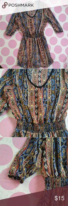 R2D APPAREL BOHO Dress Boho Style Dress....Flowing & Comfy Flattering Cinched Waist  Excellent Condition  Size S R2d Apparel Dresses Midi