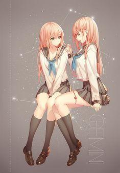 anime, anime girl, and gemini image