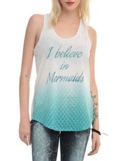Believe In Mermaids Scales Girls Tank Top
