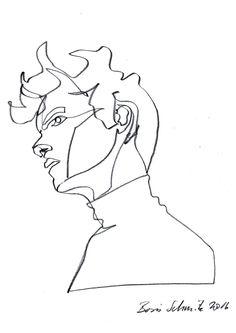"""Gaze 457"", continuous line drawing by Boris Schmitz"