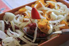 Hoje é dia de carne seca com abobora cabotia. Sirva com molho de pimenta malagueta.