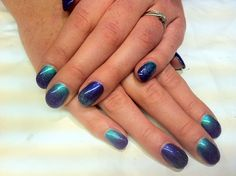 Brush up and Polish up!: CND Shellac - Hotski to Tchotchke, Purple Purple & Glitter Fade