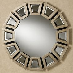 Abstract Twilight Round Wall Mirror