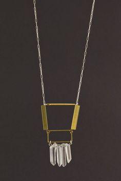 Geometric Fringe Necklace