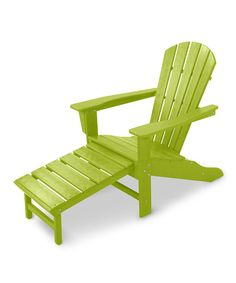 Lime Adirondack With Hideaway Ottoman