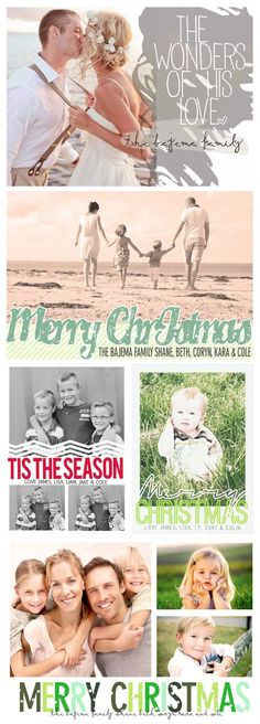 Photo Christmas Cards for 2013...LOVE these! | www.MoritzFineDesigns.com
