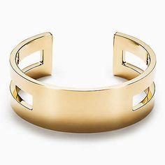 Bracelete Open Out of Retirement em ouro 18k, médio.