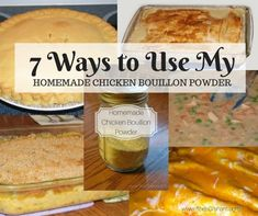 7 Ways to Use My Homemade Chicken Bouillon Powder - Sheri Graham: Helping you live with intention and purpose! Soup Base Recipe, Recipe Mix, Small Food Processor, Food Processor Recipes, Cream Soup Substitute, Homemade Dry Mixes, Canning Food Preservation, Preserving Food, Chicken Enchilada Soup