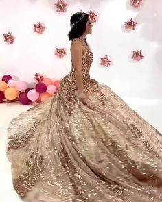 Rose Gold Quinceanera Dresses, Mexican Quinceanera Dresses, Quince Dresses, Ball Dresses, Xv Dress, Rose Gold Wedding Dress, Rose Gold Dresses, Gold Wedding Gowns, Glamouröse Outfits
