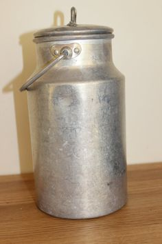 Aluminium Milk Can with lid   Milk Pail from Soviet by RETROisIN