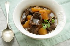 Beef and potato stewed in black pepper-dark soy sauce