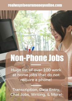 Work from home without using a phone! Big list of over 100 non-phone options.