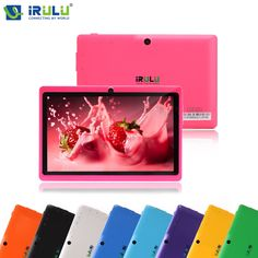 """47.99$  Buy now - http://alic5q.shopchina.info/go.php?t=32797881184 - """"iRULU eXpro X1 7""""""""1024*600 HD Google APP Play Android 4.4 Tablet PC Quad Core 16GB ROM WIFI OTG With Black Keyboard Pink New Hot""""  #bestbuy"""