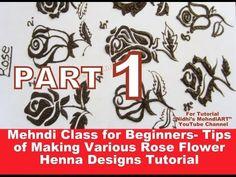 PART Mehndi Class for Beginners- Tips of Making Various Rose Flower Henna Designs Tutorial Henna Designs Feet, Floral Henna Designs, Basic Mehndi Designs, Mehndi Designs For Beginners, Mehndi Designs For Fingers, Henna Tattoo Designs, Bridal Mehndi Designs, Flower Henna, Beautiful Mehndi Design