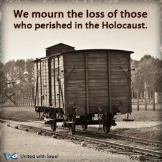 Holocaust Memorial Day in Israel today, April 8th. (The government banned guns and then came the trains.)
