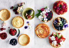 Sensommarens godaste desserter; pajer och tartletter
