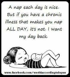 I want my day back! #RelatableChronicIllness
