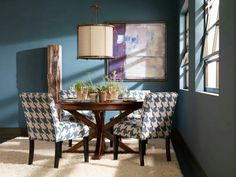 Traditional Dining Room by Ethan Allen Dining Room Blue, Accent Chairs For Living Room, Dining Room Design, Dining Room Furniture, Dining Chairs, Dining Rooms, Dining Area, Ethan Allen, Colourful Living Room