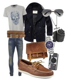 """""""fashion man"""" by fairy9595-1 on Polyvore featuring Abercrombie & Fitch, Alexander McQueen, Scotch & Soda, River Island, Versace, Ray-Ban, Faliero Sarti, Sperry, John Hardy and men's fashion"""