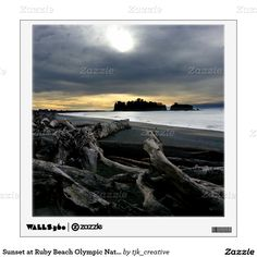 Sunset at Ruby Beach Olympic National Park Wall Sticker