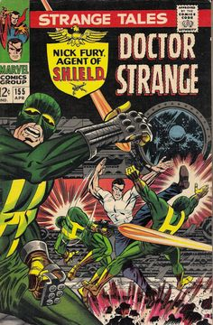 strange tales 155 marvel comics 1967 nick fury all - 28 images - multi panel pans the periodic fable, the great comic book heroes jim steranko s nick fury, strange tales volume comic vine, strange tales 155 1967 nick fury doctor strange by, strange t Comic Book Covers, Comic Book Heroes, Marvel Heroes, Comic Books Art, Comic Art, Book Art, Marvel Characters, Jim Steranko, Jack Kirby Art