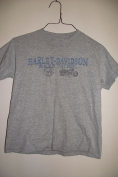 Harley Davidson Kids Size 6-8 Gray T-Shirt. No rips, tears or stains. A little faded look. Measurements taken when shirt is LAYING FLAT. DETAILS~.   eBay!
