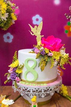 Tinkerbell cake from a Tinkerbell Fairy Garden Birthday Party on Kara's Party Ideas   KarasPartyIdeas.com (5)
